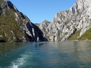 Komani ferry view
