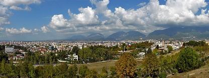 Tirana From Varrezat e Dëshmorëve (Martyr's cemetary)